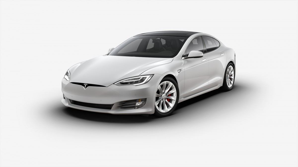 2018 Tesla MODEL S P100D pearl white multi-coat paint vin