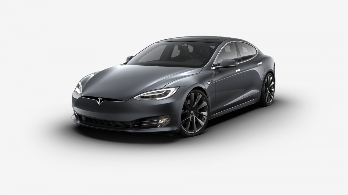 2018 tesla model s 75d midnight silver metallic paint vin 5yjsa1e27jf251641 for sale in usa. Black Bedroom Furniture Sets. Home Design Ideas